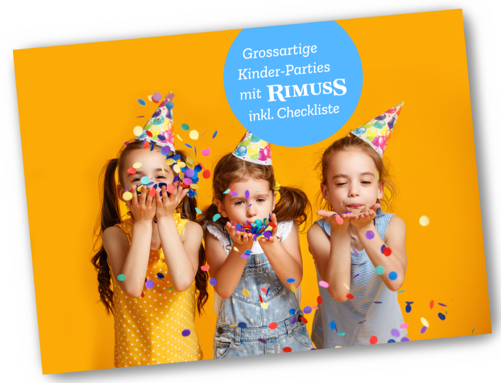 Das Rimuss Kinder-party-booklet mit tollen Motto- Party mit coolen Spielideen und Inspirationen