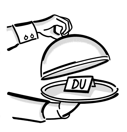Rimuss Apéro-Knigge Duzen Siezen