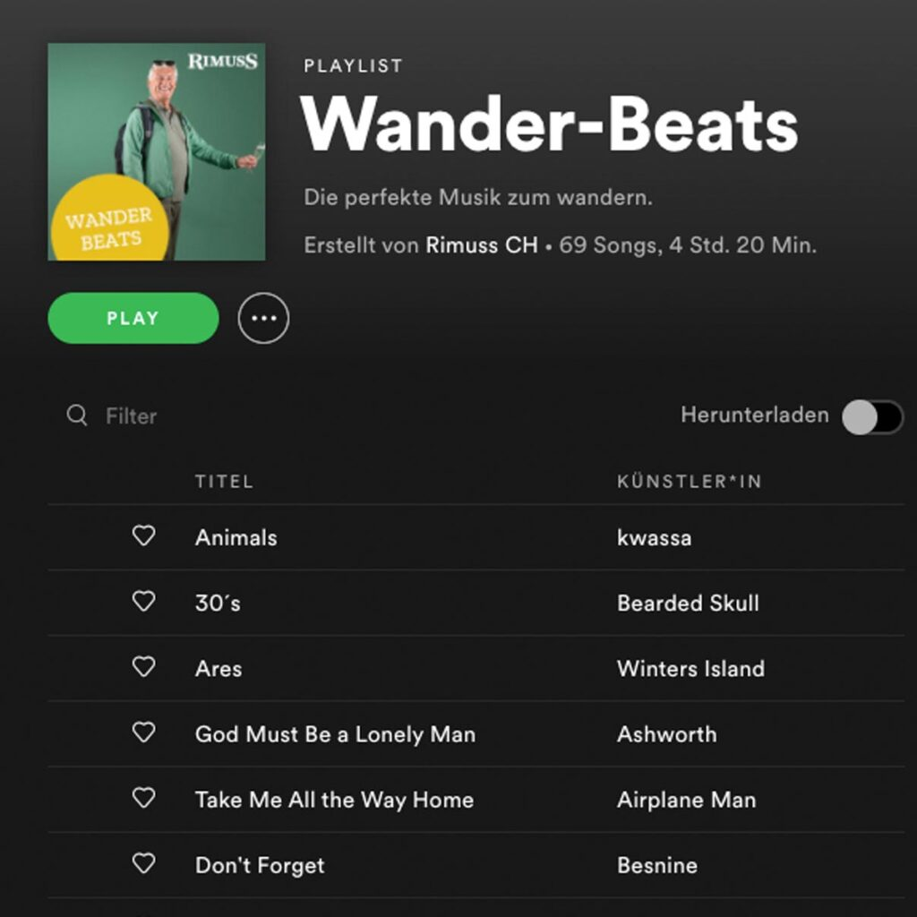 Die Spotify Apéro Playlist in der Wander Edition für den Picknick Apéro Unterwegs