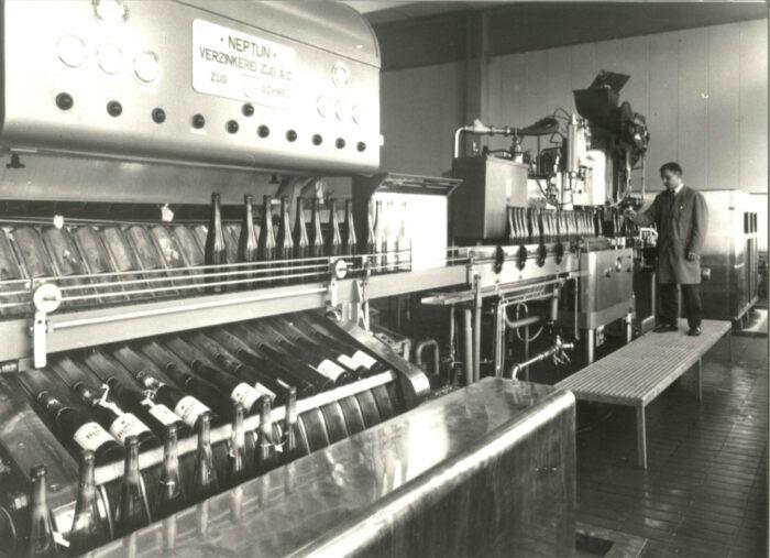 Die Abfüllanlage von Rimuss 1969
