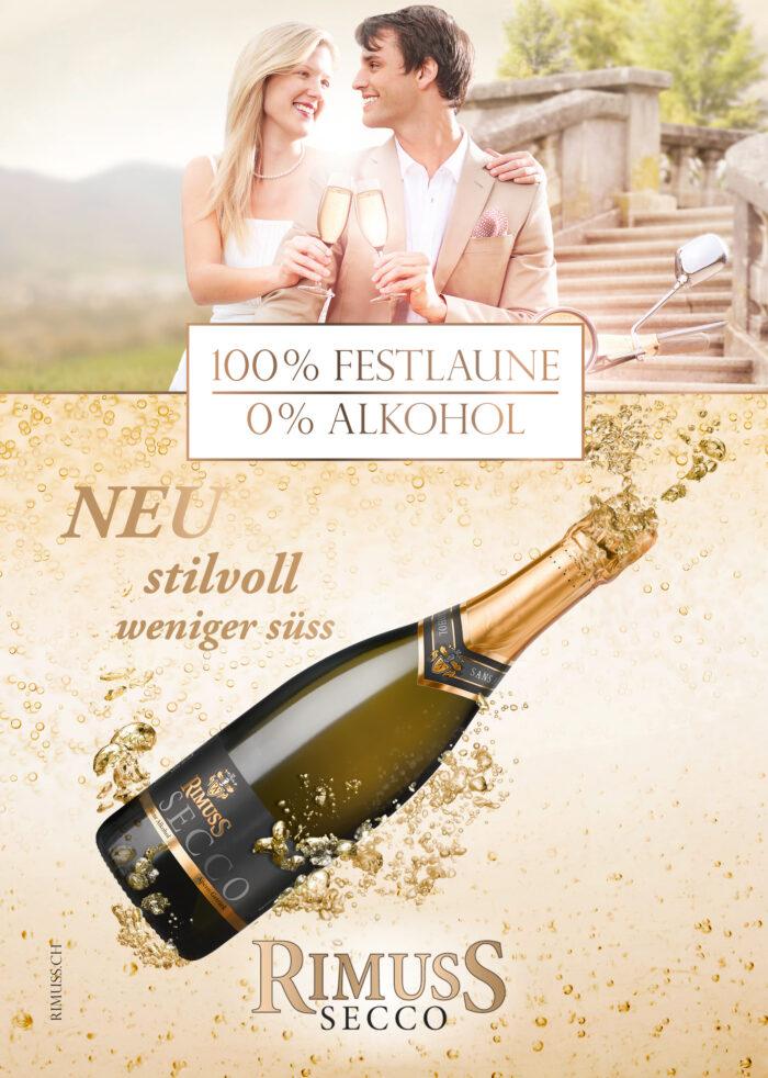 Lancierung des alkoholfreien Prosecco, Schaumwein: Rimuss Secco 2012