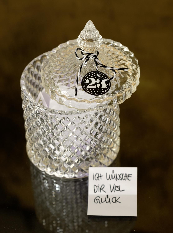 Wunschglas mit guten Wünschen für den Rimuss Apero Adventskalender
