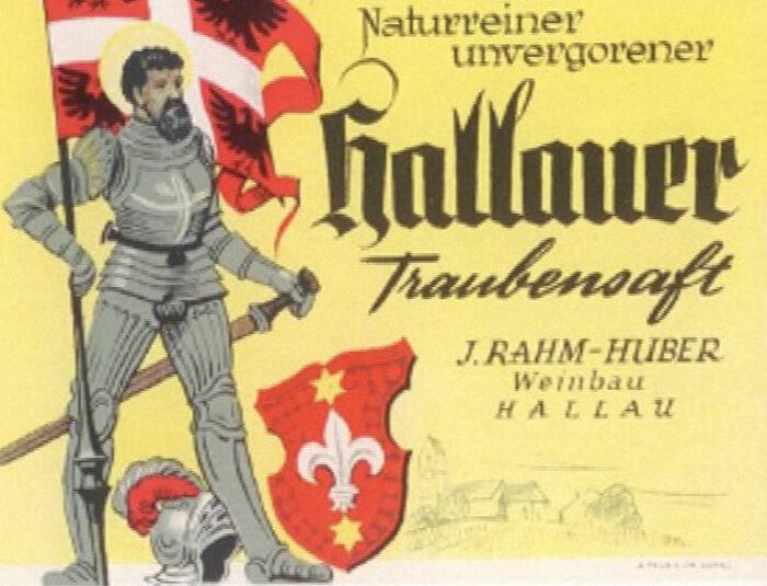 Die Anfänge – Jakob Rahm beginnt mit der Produktion von Hallauer Traubensaft. 1945