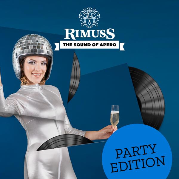 Rimuss Apéro Spotify Playlist in der Party Edition mit tanzender Discokugel