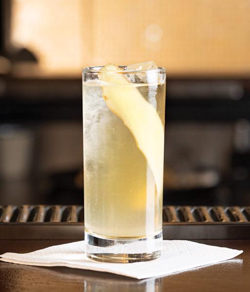 Der alkoholfreie Rimuss Mocktail Adult Candy, mit Ingwer und Rimuss Champion Moscato