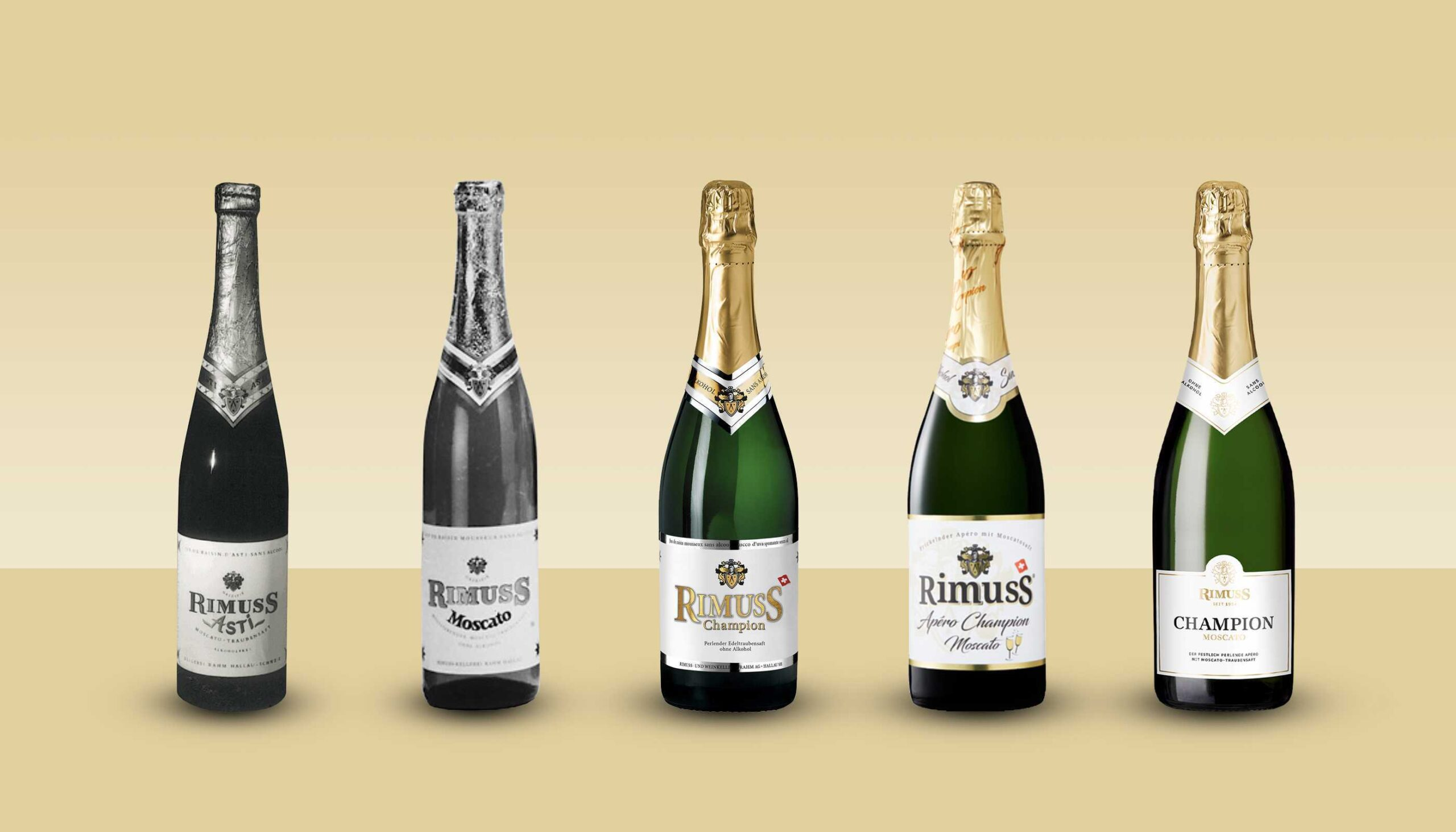 Die Entwicklung des Flaschendesigns beim Rimuss Champion Moscato