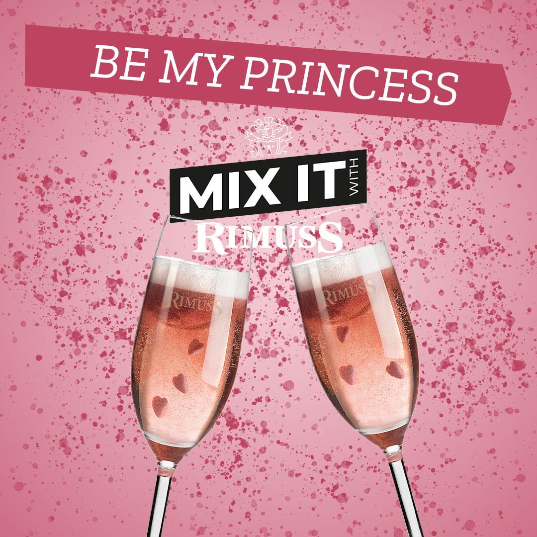 Mocktail / Drink Rezept BE MY PRINCESS für den Valentinstag Apero