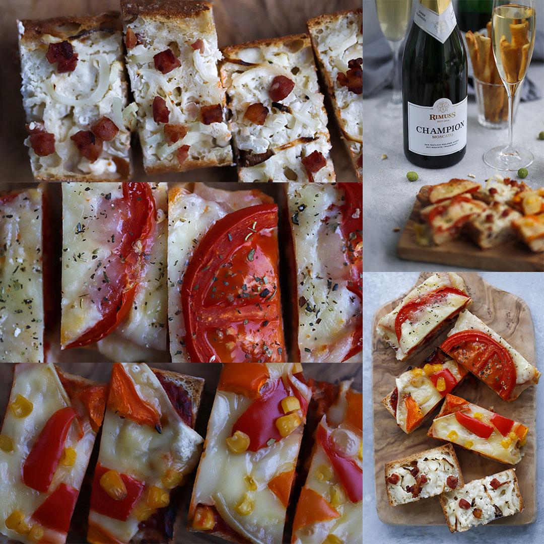 Drei super leckere Baguette Rezepte zum Valentinstags Apero mit Rimuss Champion Moscato
