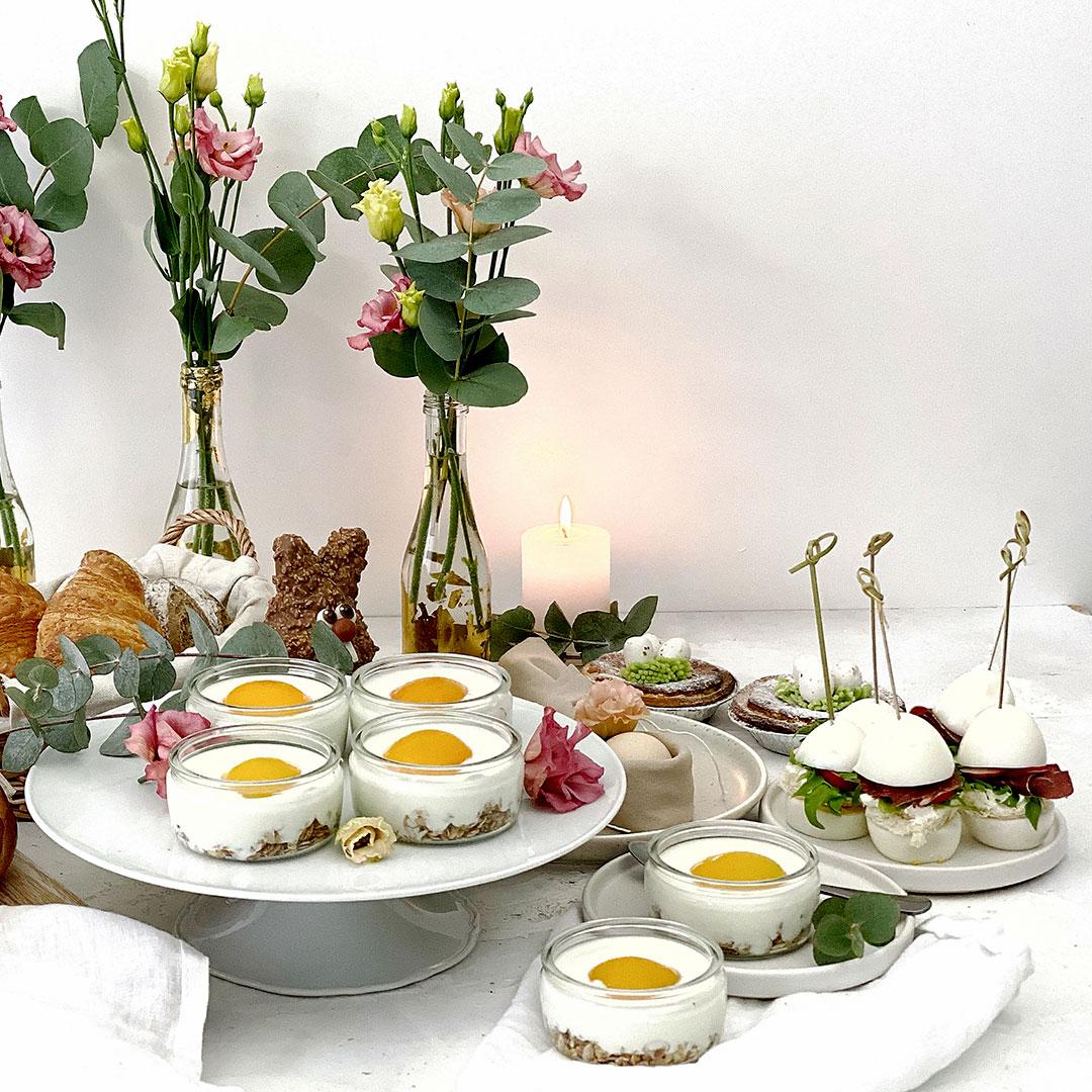 Super feine Food Rezepte für den Oster Apero. Lecker Eier, Sandwiches und Törtchen.
