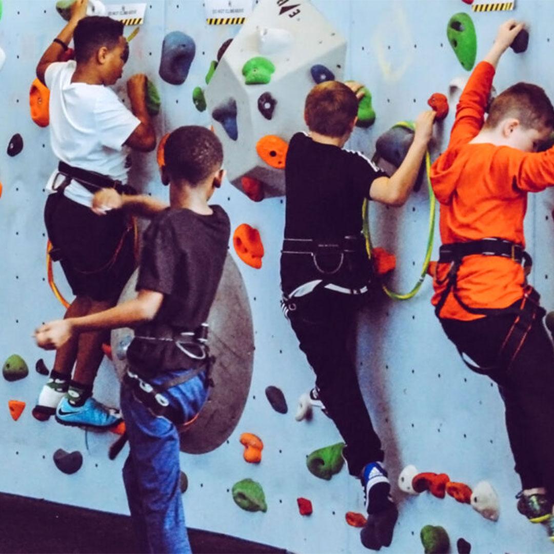 Rimuss Auslugsziele und Aktivitäten für den Kindergeburtstag, Kinder beim Klettern