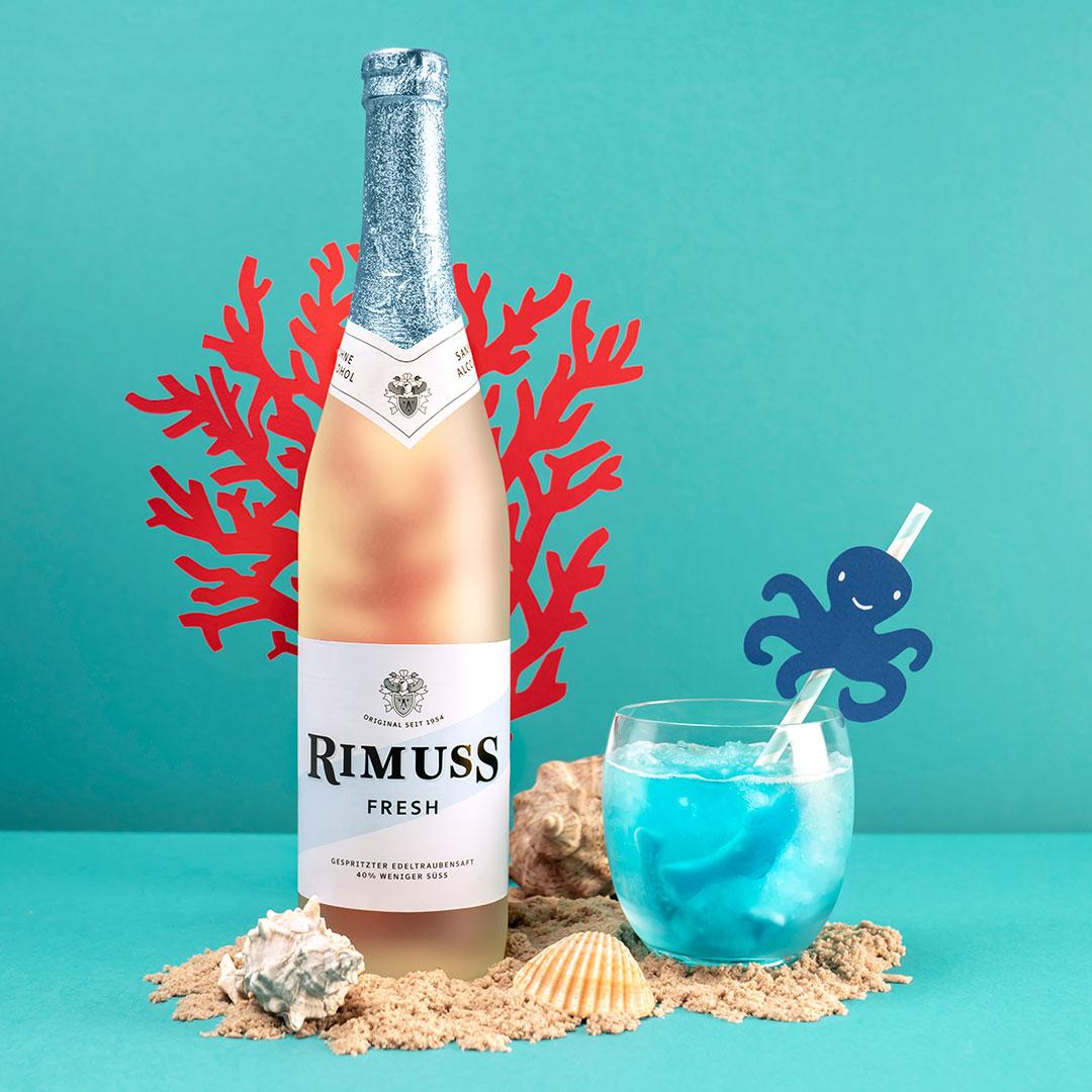 Rimuss Ozean Drink mit Rimuss Fresh für die Motto-Kinderparty mit dem Thema Strand und Meer