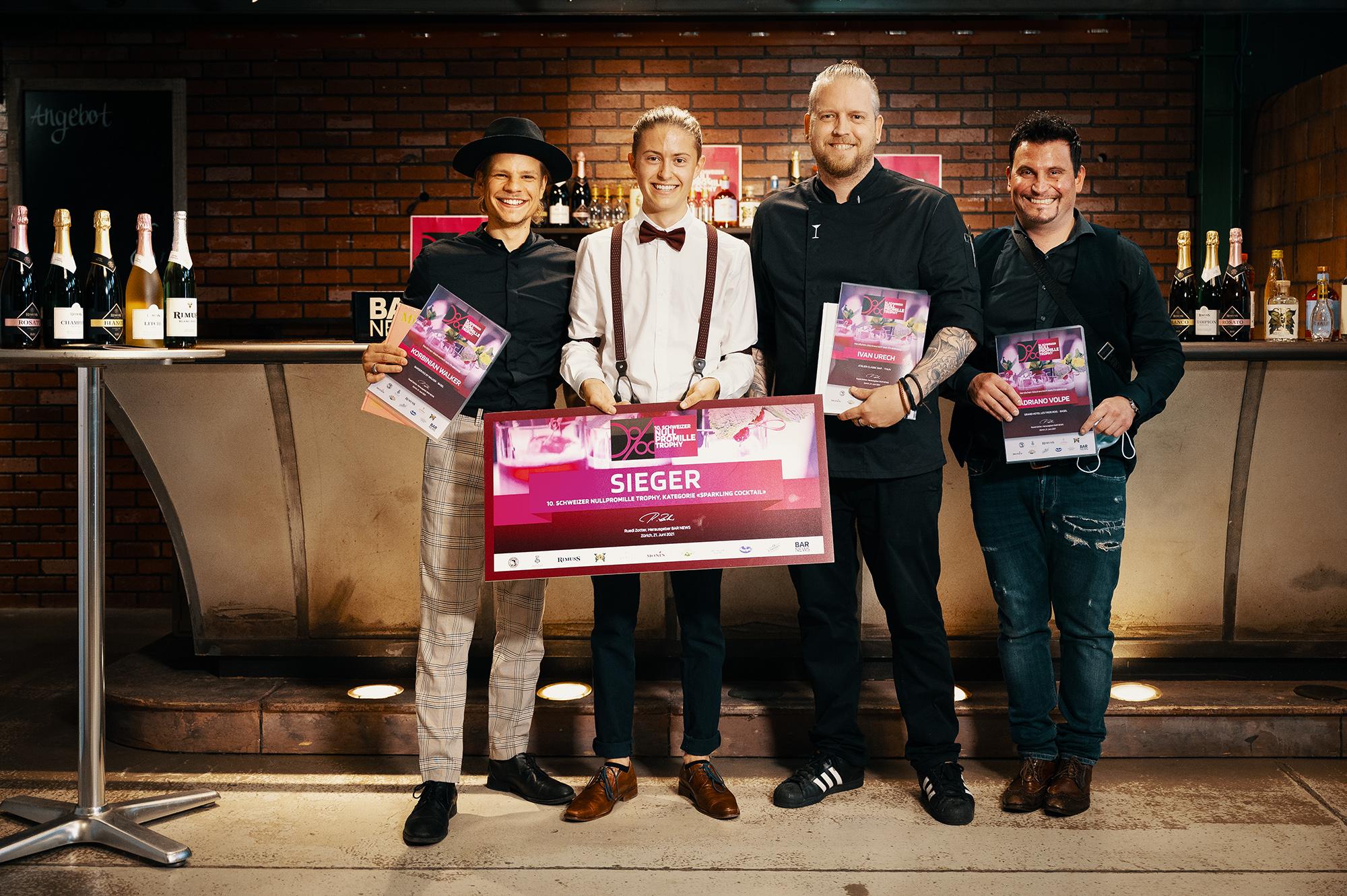 Die Sieger der Null Promille Trophy 2021 in der Kategorie Sparkling, gesponsert von Rimuss