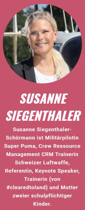 Susanne Siegenthaler, Keynote-Speakerin bei der Strong Women Convention 2021