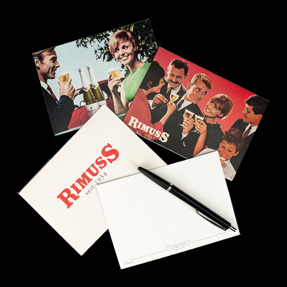 Das coole Rimuss Postkartenset mit 6 alten Werbungen und Plakaten als Motive